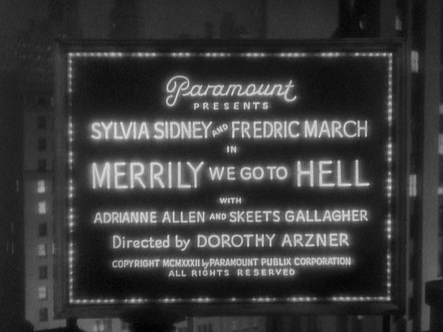 Merrily We Go to Hell movie