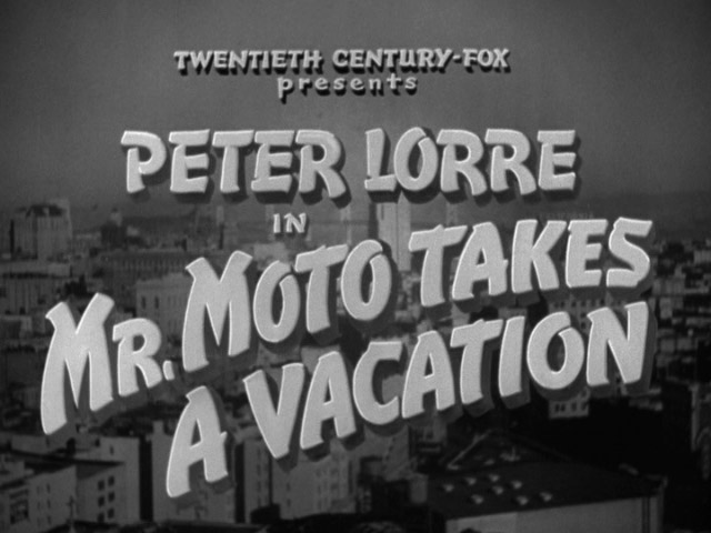 Mr. Moto Takes a Vacation movie